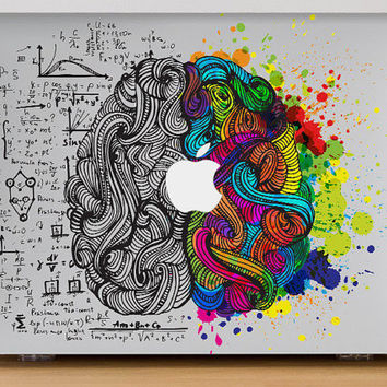 MacBook Air 13 Macbook Pro 15 Hard Case Plastic Colorful Brain art science MacBook Air 11 Hard Case Plastic Technology Design Retina 024