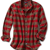 Cremieux Long-Sleeve Plaid Oxford Shirt - Red