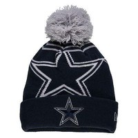 Dallas Cowboys Beanie Navy Logo Whiz 2 Cuffed Knit Hat with Pom NFL