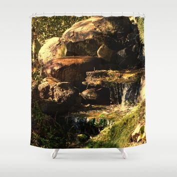Fall Waterfall Shower Curtain by Theresa Campbell D'August Art