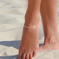 Silky Gold Anklet