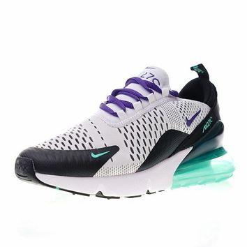 "NIKE Air Max 270 ""White Purple"" Running Shoes Sneaker AH6789-103"