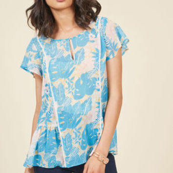 Brunch's Best Top in Tropical