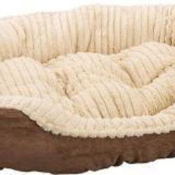 DCCKU7Q Ethical Sleep Zone 32' Chocolate Plush Bed Carved