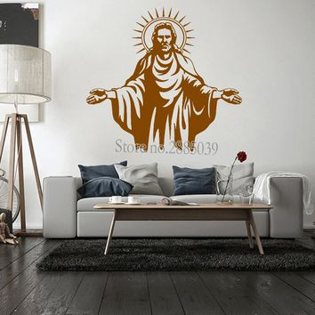 Wall Decal of Jesus Christ Living Room Stickers Church Decals Decor Removalbe God Mural Modern Art Wallpaper Custom Colors LC134