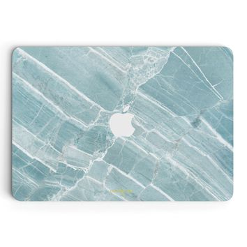 Mint Marble MacBook Skin