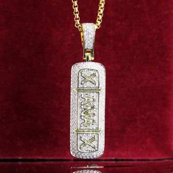 Custom Xanax Pill Bottle 14k Gold Finish Pendant Free Chain