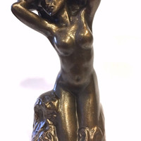 Toilette De Venus Statue (The Bather) by Auguste Rodin 5.25H