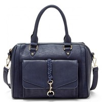 Sole Society Bryer Vegan Satchel With Braided Detail
