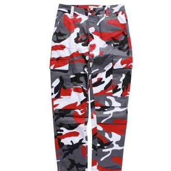 FLYING NINET Latest TOP camouflage camo KANYE WEST & FNTY oversized men joggers pants hip hop justin bieber Pink purple Fashion pants S-XXL