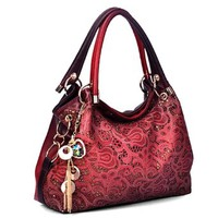 Fashion Shoulder Bag Sequins Embossed Pendant Ol Crossbody Hollow Out Tote