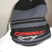 Chevrolet Racing Black and Gray Knit Beanie hat, new w/tags