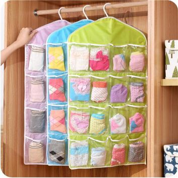 16 Pockets Over Door Cloth Shoe Organizer Hanging Hanger Closet Space Storage High Quality