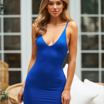 Casa Mila Dress Cobalt
