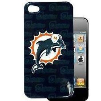 MIAMI DOLPHINS APPLE iPHONE 5 FACEPLATE BACK PROTECTOR SNAP COVER CASE