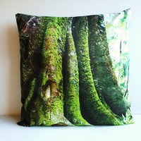 $59.82 decorative cushion MORTON BAY FIG tree organic by mybeardedpigeon
