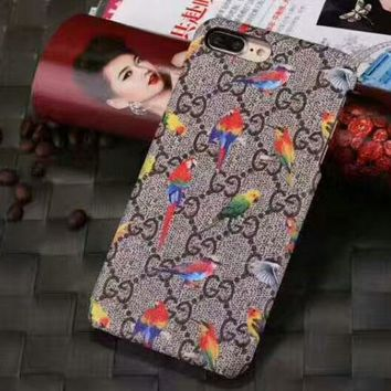GUCCI tide brand embroidery iPhone7plus mobile phone shell iphone8 couple shell #2