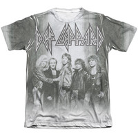 DEF LEPPARD/THE BAND-ADULT POLY/COTTON S/S TEE-WHITE