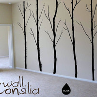 Winter Trees Decal Tree Wall Decal Wall Sticker by WallConsilia