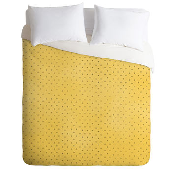 Allyson Johnson Sunny Yellow Dots Duvet Cover