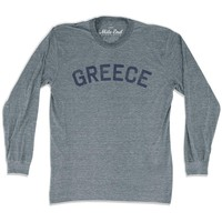 Greece City Vintage Long Sleeve T-Shirt