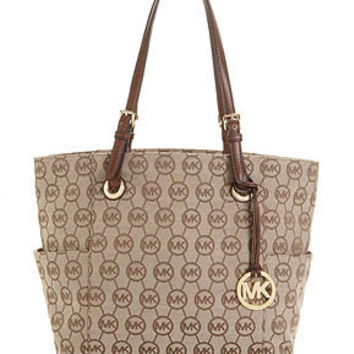 Michael Kors Handbag Circle Monogram Signature Tote Clearance Closeout