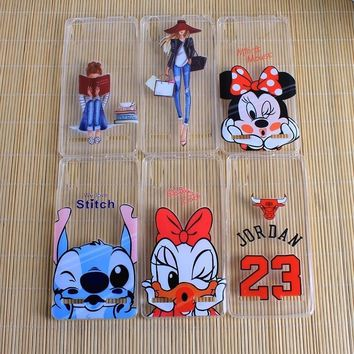 Clear Minnie Mickey 23 Jordan Mobile Phone Cases For Lenovo K3 A6000 Covers Silicon So