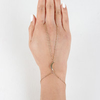 Simple Crescent Moon Hand Chain