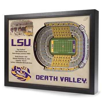 LSU Tigers 25-Layer StadiumView 3D Wall Art