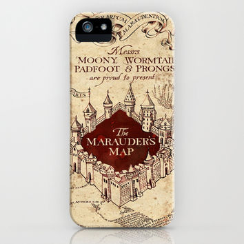 The Marauder's map- Harry Potter iPhone & iPod Case by Susan Hoogendoorn