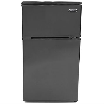 3.1 Cubic Foot Energy Star Compact Refrigerator Freezer in Black Dry Erase