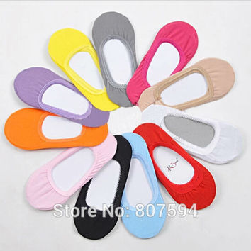 1pair Female Women Invisible ankle lace Socks Slippers