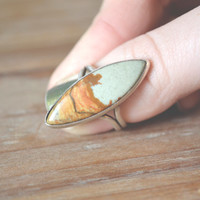 crazy lace agate forest inlay ring // vintage navajo inlay // native american