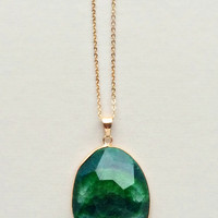 Emerald Genuine Quartz Necklace