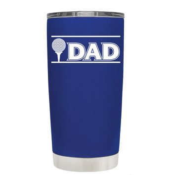 TREK Golf Dad with Golf Ball on Blue 20 oz Tumbler Cup