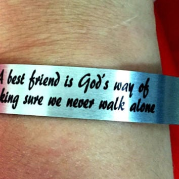 Best Friend Aluminum Cuff Bracelet