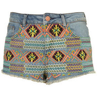 Petite Embroidered Hotpants - New In This Week  - New In