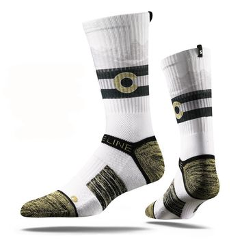 Strideline 2.0 University of Colorado, Buffs Uncommon, Collegiate Crew Socks
