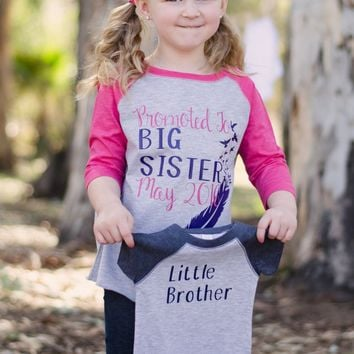 Big Sister and Little Brother Matching Shirts, Brother & Sister Shirts, Gender Reveal Shirts