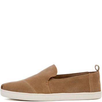 Toms Women's Deconstructed Cupsole Alpargata Toffee Suede Flat