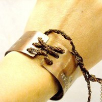 $50.00 Corset Cuff Bracelet  Personalized with your Words by MerCurios