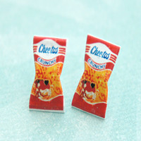 Vintage Cheetos Crunchy Stud Earrings