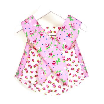 Girls reversible pinafore/tunica dress - Size Newborn-3 years