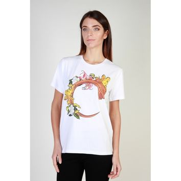 Cavalli Class White Crew Neck Short Sleeve T-Shirt