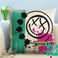 Colorful Blink 182 Logo Zippered Pillow Case, Cushion Case, Pillow case