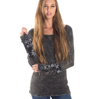Waffle Thermal Aztec Cuff Top - Two Options