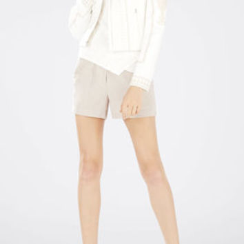 Brown/Neutral BCBG Addison Paper Bag Shorts
