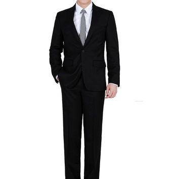 New Style Hot Sale Male Suits Casual Single Breasted Turn-down Collar Full Sleeve Good Quality Slim Looking Tops Pants Cozy