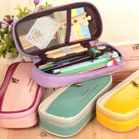 Lovely Pen Bags Multi-functioned Box Simple Design Korean Creative Stationary [6282186118]