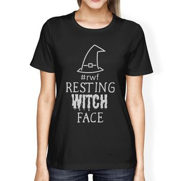 Rwf Resting Witch Face Womens Black Shirt